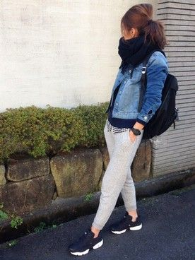 yuko│UNIQLOのストール/スヌードコーディネート