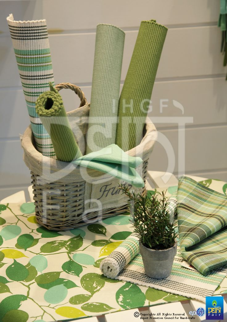 Bouquet for a sunny day......table linen in prints, lines and pastels... at the upcoming IHGF Delhi Fair, Spring 2016 #ihgfspring #tradeshow #hometextiles