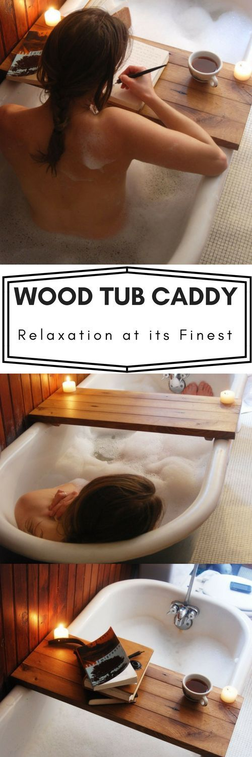 Everyone needs a little relaxation now and again. This wood tub caddy would allow me to get a some reading done while I'm hiding from the kids in the bathtub! #momlife #ad