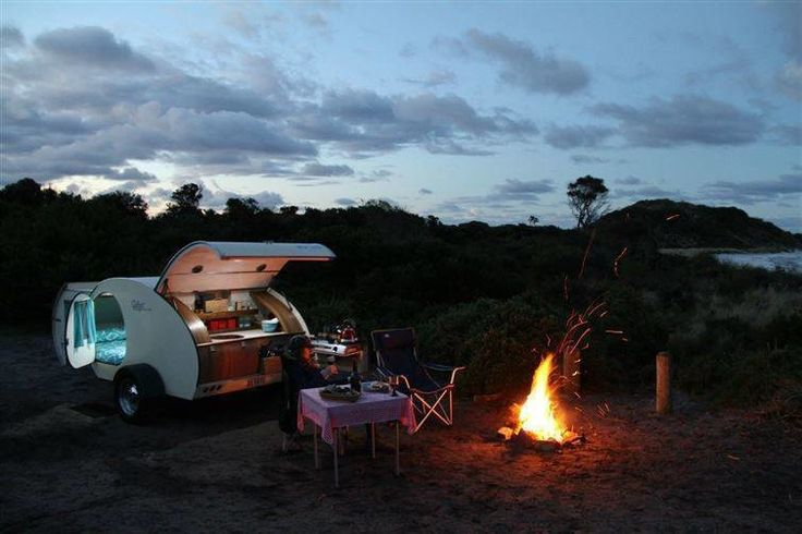 This amazing little camper basically blows both a tent and an RV out of the water: Who wouldn't want to camp like this?