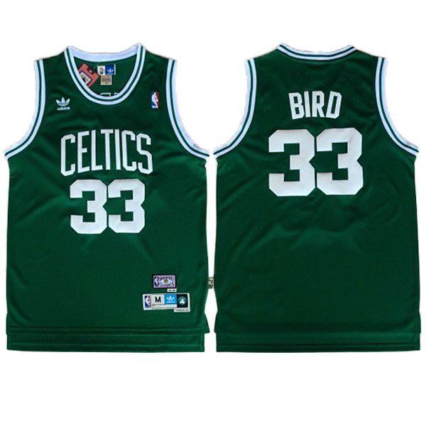 ad7d08bc ... Larry Bird Jersey - Boston Celtics Road Green Throwback Basketball  Jersey.