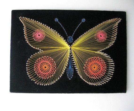 Butterfly String Art by SwankyLadyVintage on Etsy, $24.00