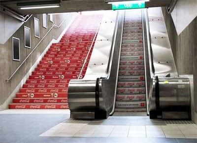 Coca-Cola Advertisement. Light vs Regular. I'll take the stairs.