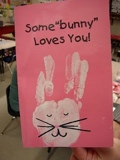 974affc3eb18b46a4fc152cc48deecf1 some bunny loves you the bunny - Cute with the hand print bunny!