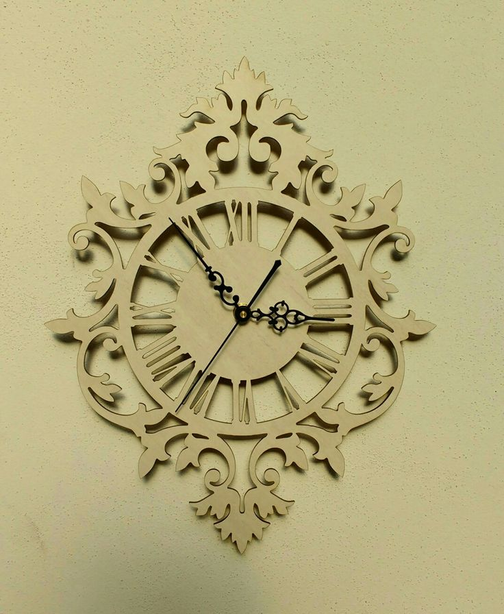 Reloj de pared calado / Laser cutting wall clock