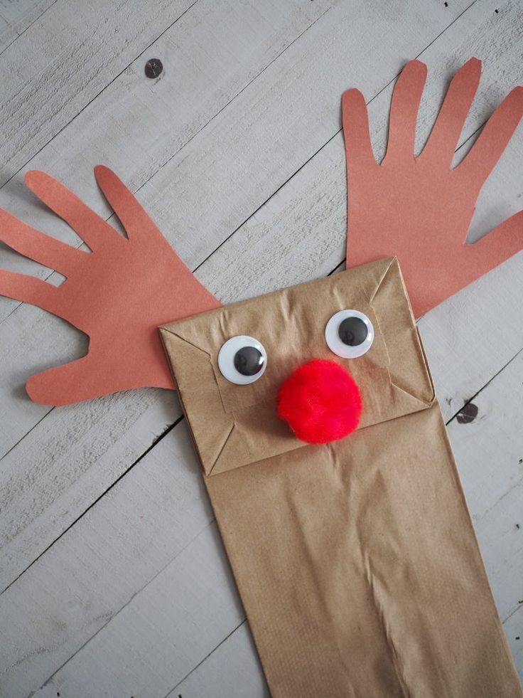 Christmas Paper Bag Puppets A New Book Kid Blogger Network