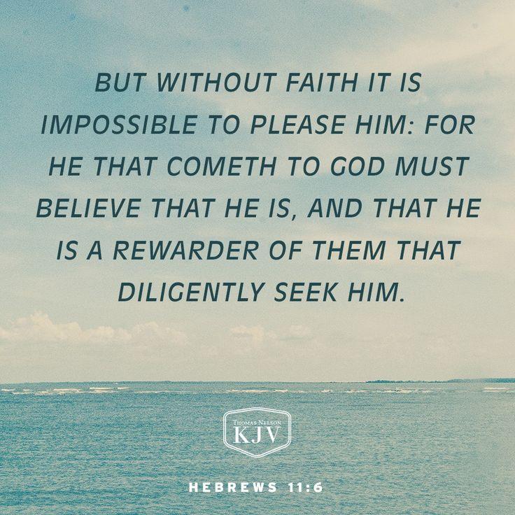 KJV Verse of the Day: Hebrews 11:6