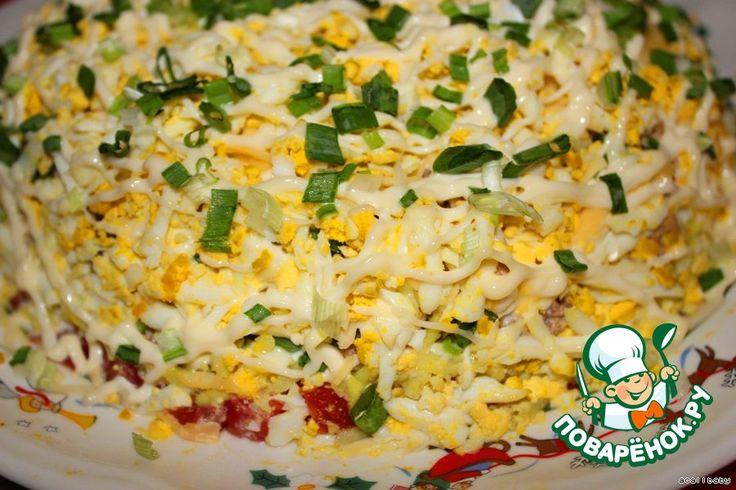 Рыбный салат с тунцом рецепт