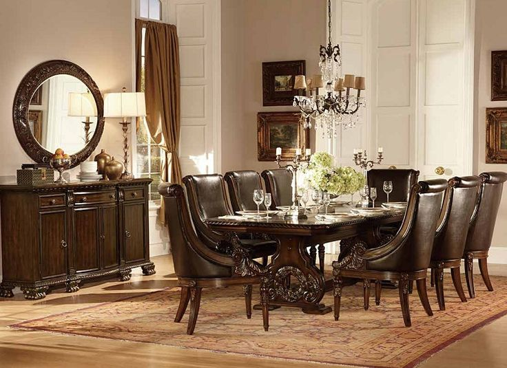 Home Elegance Orleans Dark Cherry Server With Mirror Dining Room Table SetsDining RoomsBuffet