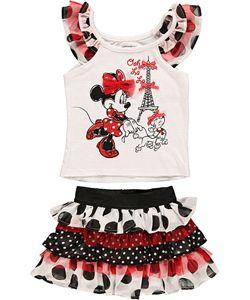 """Minnie Mouse """"Ooh La La"""" 2-Piece Outfit (Sizes 2T – 4T) $18.99"""