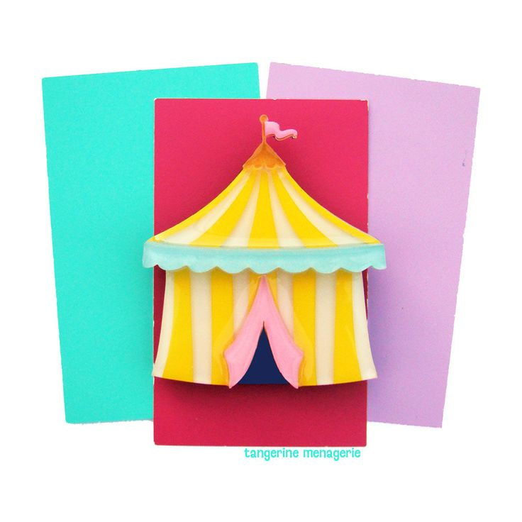 Circus Tent Vintage Inspired Novelty Brooch by Tangerine Menagerie on Etsy