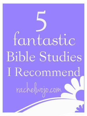 5 Fantastic Bible Studies I Recommend: These are all studies I've completed within the last year or so.  Doing a book study keeps me accountable AND provides additional perspective!