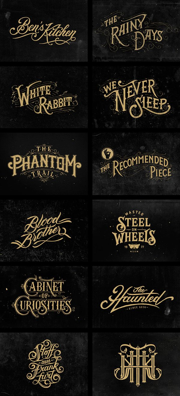 Hand Lettering III by Tobias Saul, via Behance