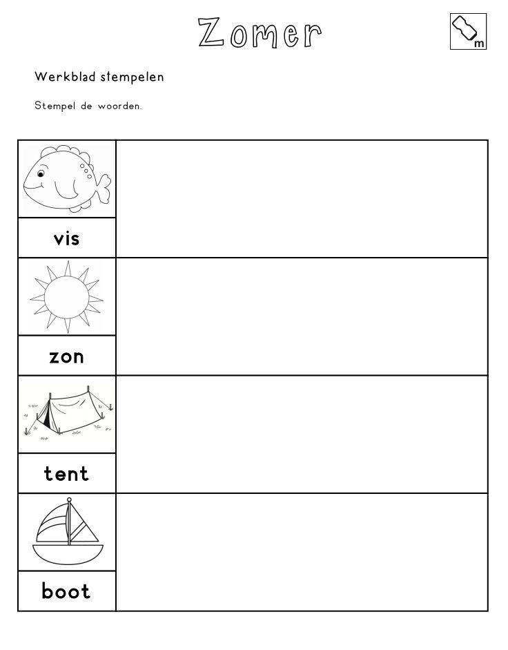 Stempelen - Stempel de woorden [jufshanna.nl]