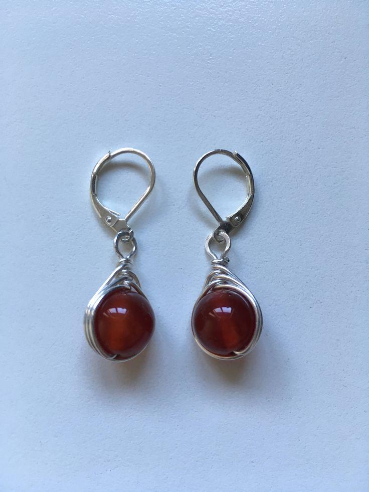 925 Pure Silver Carnelian Gemstone Traditional Dangle Earring Jewellery Gift For Her J7ZWdPh4V