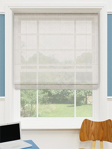 Woven Voile Calico Roman Blind from Blinds 2go