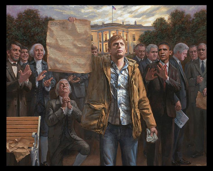 The Empowered Man — Jon McNaughton ( Sequel to Forgotten Man ) http://justpiper.com/2012/06/the-empowered-man-jon-mcnaughton-sequel-to-forgotten-man/#