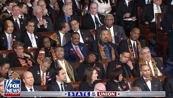 The Congressional Black Caucus Wasn't Having It When Trump Mentioned Black Unemployment | HuffPost