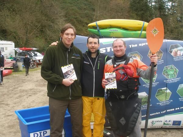 CHECK ALL BOATS AND EQUIPMENT -Paddling guidelines http://www.fisheriesireland.ie/Invasive-species-news/launch-of-invasive-species-disinfection-guidelines-for-paddle-sports-enthusiasts.html