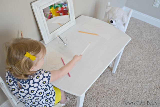 DIY Chalk Paint Recipe: Toddler Play Table For Two//Fawn Over Baby