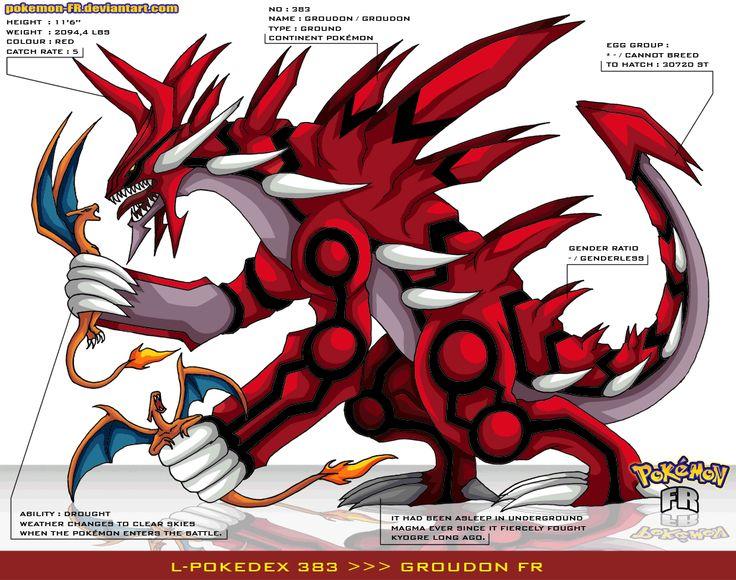 pokemon x and y mega groudon | Pokedex 383 - Groudon FR by Pokemon-FR
