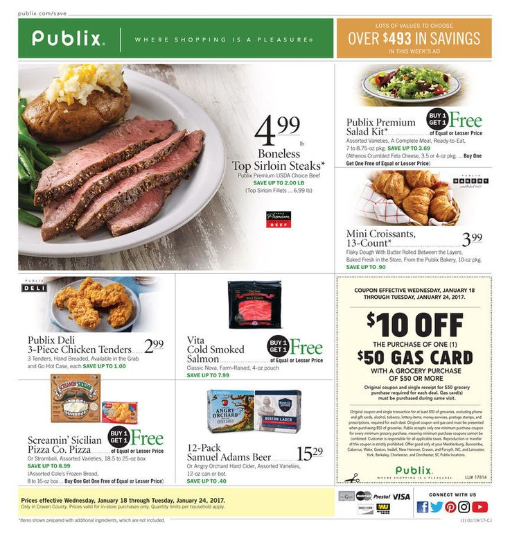 Publix Weekly Ad Circular January 18 - 24 United States #Food #Publix