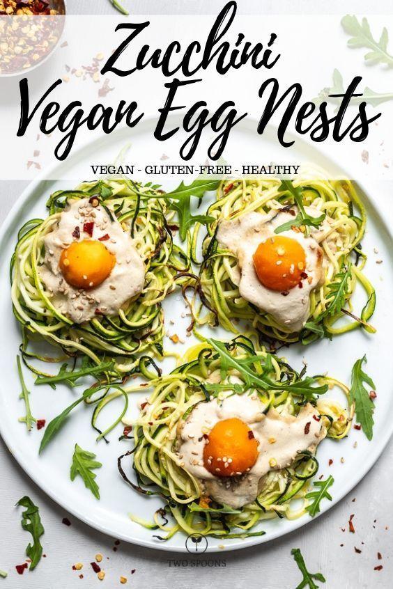 Zucchini Vegan Egg Nests