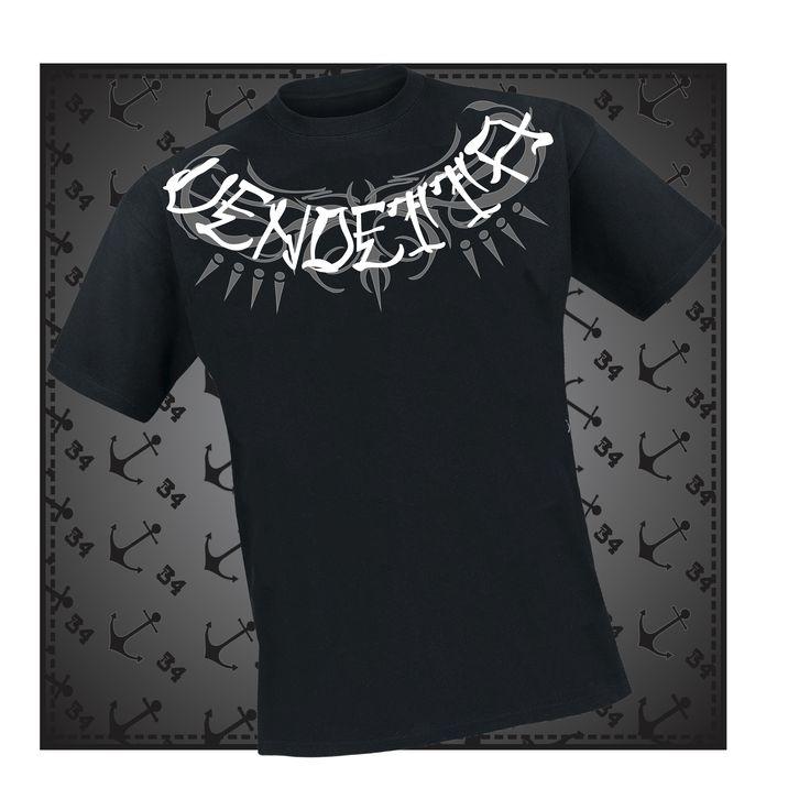 T-Shirt vendetta #t34 color Disponible en color negro y azul marino
