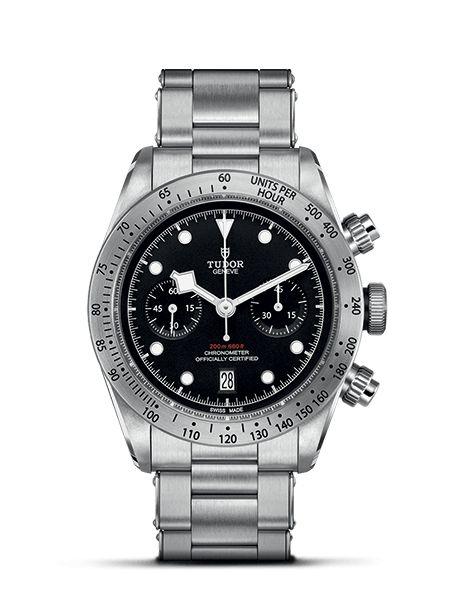 Découvrez la nouvelle TUDOR Heritage Black Bay Chrono, le premier chronographe manufacturé par TUDOR doté d'un mouvement à remontage automatique.