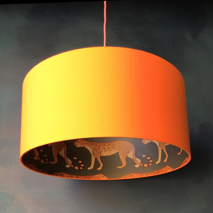 50 best silhouette lampshades images on pinterest lamp shades leopard walk cole son lampshade in tangerine aloadofball Images