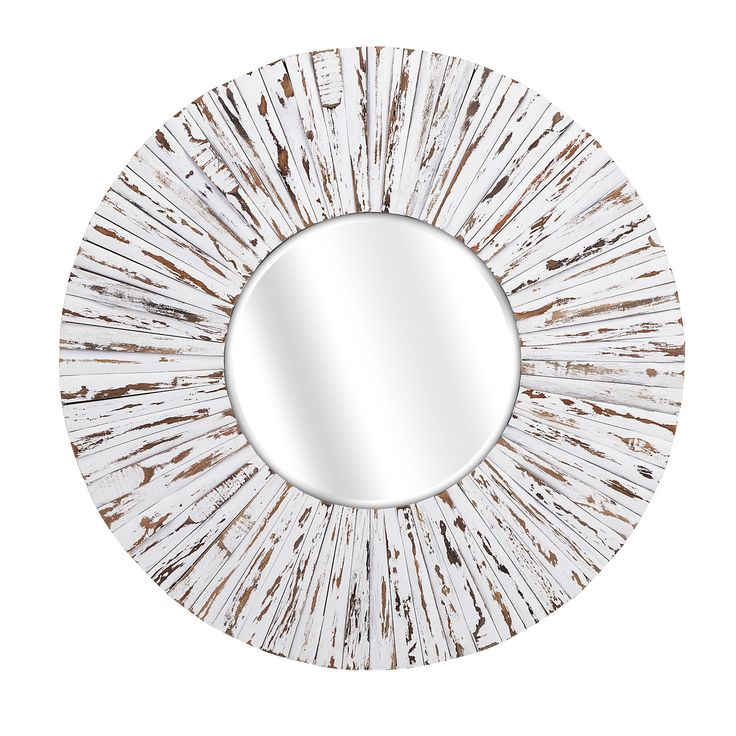 Shore White Round Cottage Mirror - perfectly beach cottage!