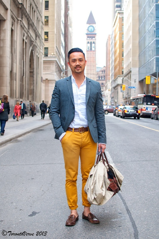 Mustard Yellow Pants Menswear Toronto The Dapper Man