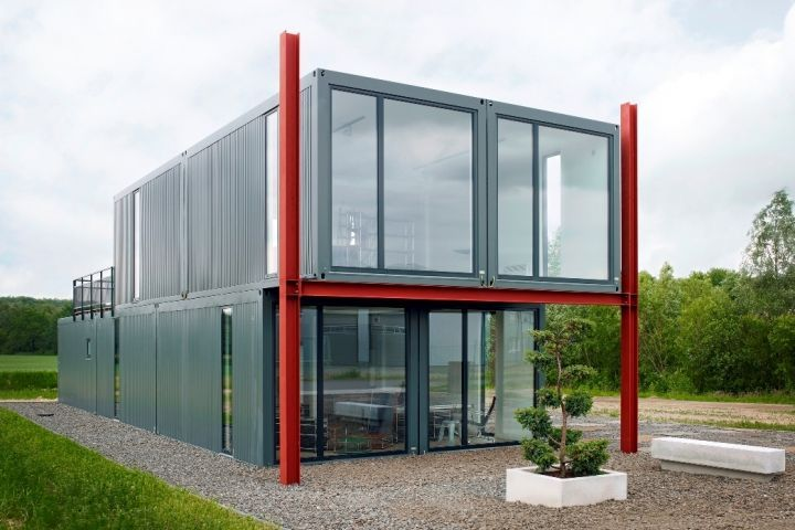 Shipping Container Home Construction 720 x 480