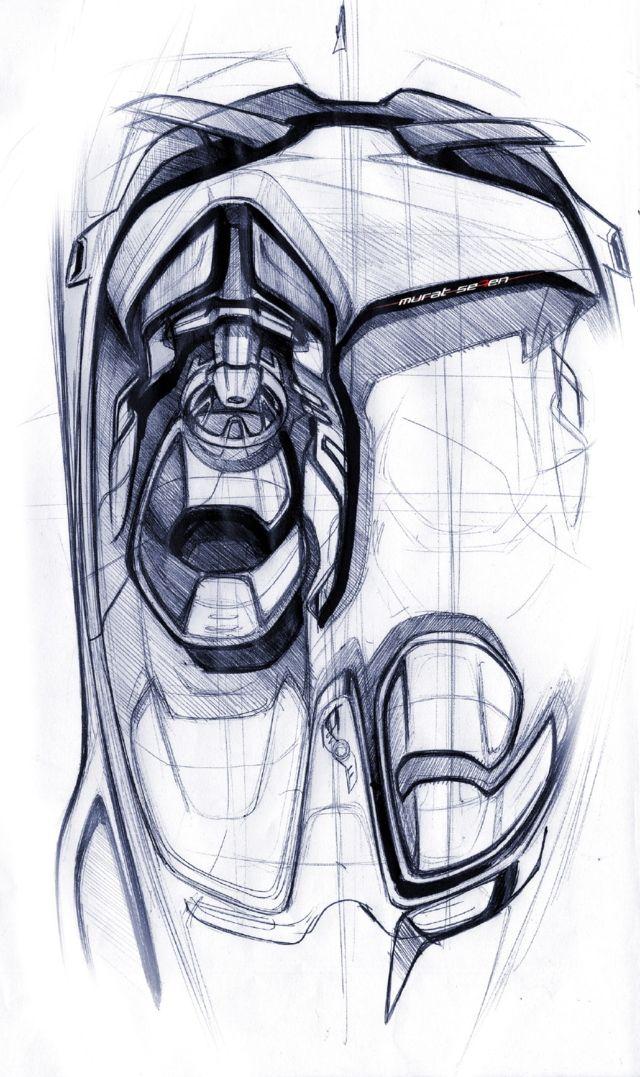Ford Evos interior sketch by Murat Seven