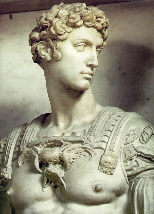 Michelangelo: Statue of Giuliano de' Medici c. 1526-34 Marble