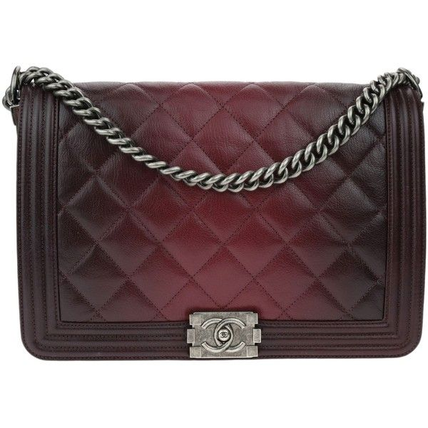 0fd5821755b3 Pre-owned Chanel Burgundy Goatskin Ombre Faded Quilted New Medium Boy... (