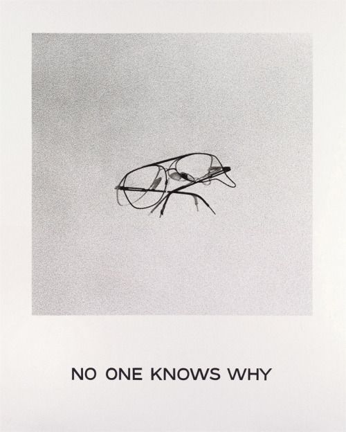 »no one knows why« by john baldessari (+)[via]