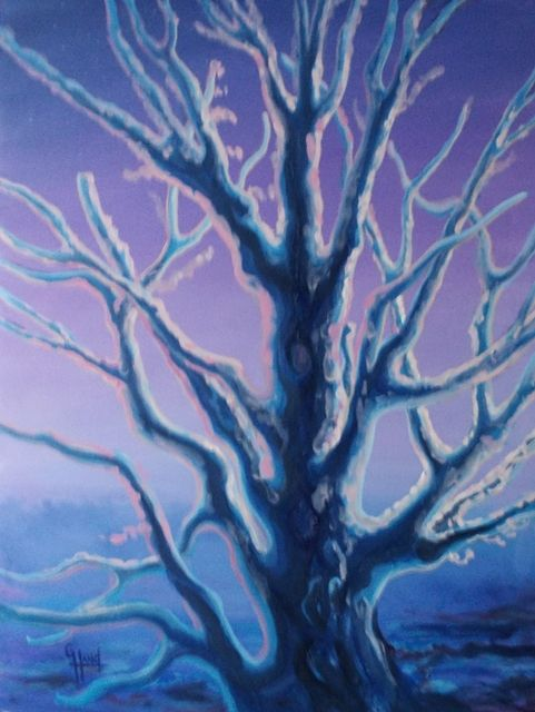 After the Ice Storm...Oil Painting by Greg Hand