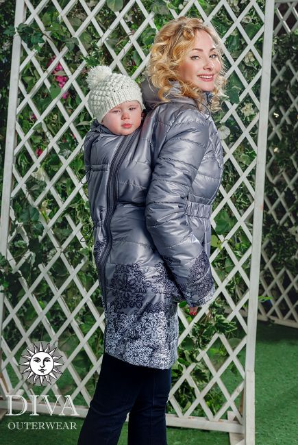 Spring / Fall Babywearing Coat with a Back carry is a medium warm lightweight coat that meets all your babywearing needs. Free shipping!