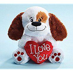 I Love You Plush Valentine's Day Puppy