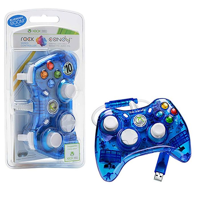Xbox 360 Rock Candy Controller in Blue (PDP)  https://www.retrogamingstores.com/gaming-accessories/xbox-360-controller-rock-candy-blue-pdp-708056052041  Officially Licensed for Xbox 360.