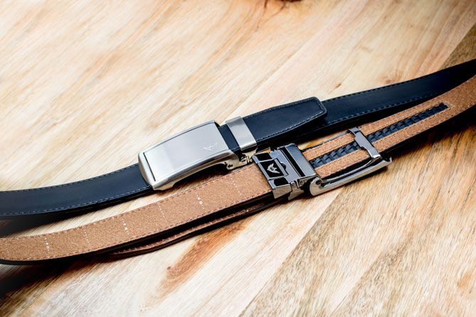 Why poke holes in a perfectly good piece of leather? Our leather belts without holes allow you to make 30 size adjustments without the limitations of inch-apart belt holes.
