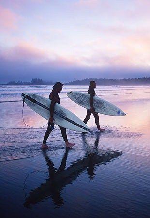 Long beach, Tofino. Pacific Rim National Park, Vancouver Island, BC.   #exploreBC #explorecanada