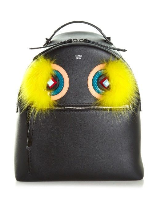 Fendi Leather and fur backpack - Sale! Up to 75% OFF! Shop at Stylizio for women's and men's designer handbags, luxury sunglasses, watches, jewelry, purses, wallets, clothes, underwear & more!