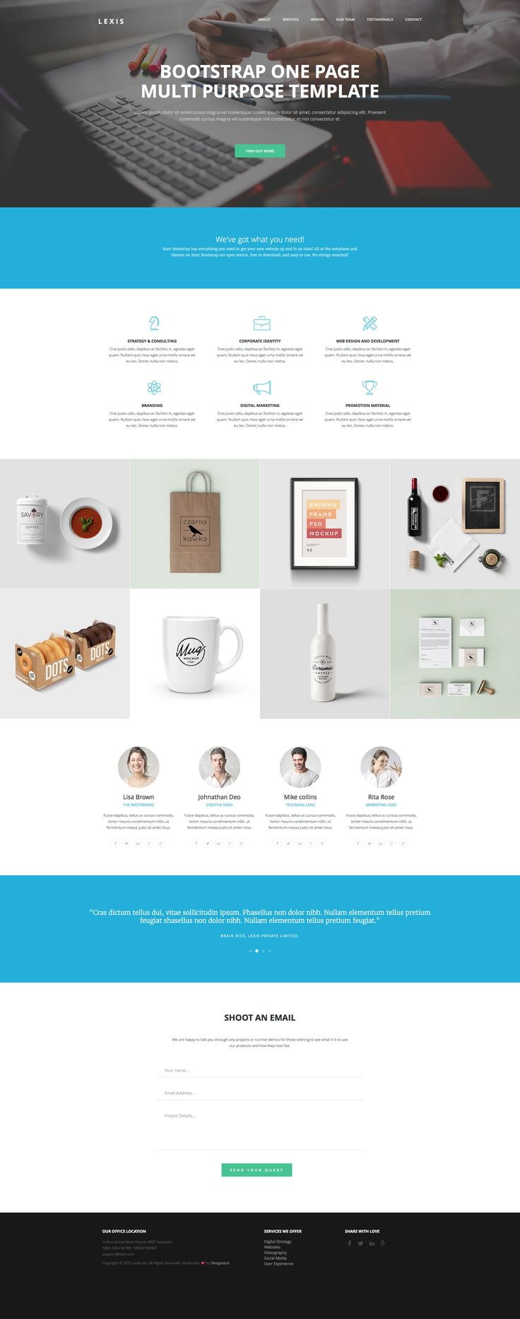 23 best bootstrap templates images on Pinterest | Free html ...