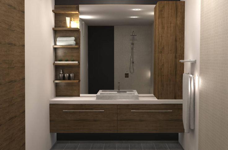 Badkamerkast 'Trap' : Moderne badkamers van AD MORE design