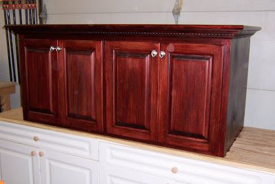 Red mahogany oak cabinets kress woodworks lafayette plaza marietta oh printer stand house Bathroom cabinets marietta ga