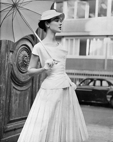 Jean Desses two-piece dress, 1955 #EasyNip