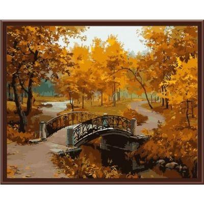 Картина-раскраска по номерам «В осеннем парке» | MG287