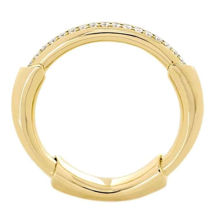0.05 Carat Pavé-set Diamonds 18k Solid Gold Kula Ring 1